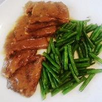 Pan Roast Beef with Gravy Sauce