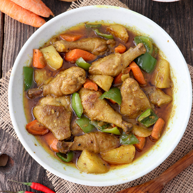 Filipino Style Chicken Curry With Coconut Milk Foxy Folksy