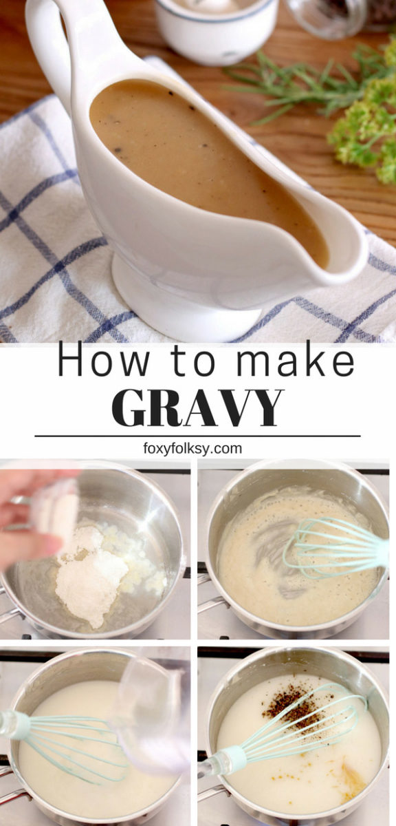 Homemade Gravy Recipe- It never gets easier than this. Perfect for fried chicken, steak and mashed potatoes. | www.foxyfolksy.com