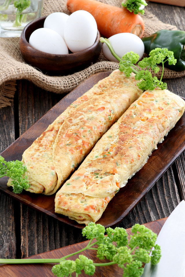 Korean Egg Rolls or Gyeran Mari