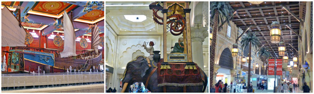 Dubai Ibn Battuta shopping mall collage