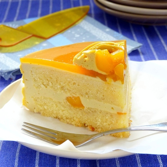 Delicious Mango Cake With Mirror Top Foxy Folksy