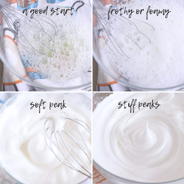 Stages of Meringue