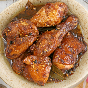 Garlicky Filipino Chicken Adobo