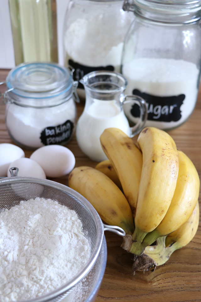 ingredients for banana crepes