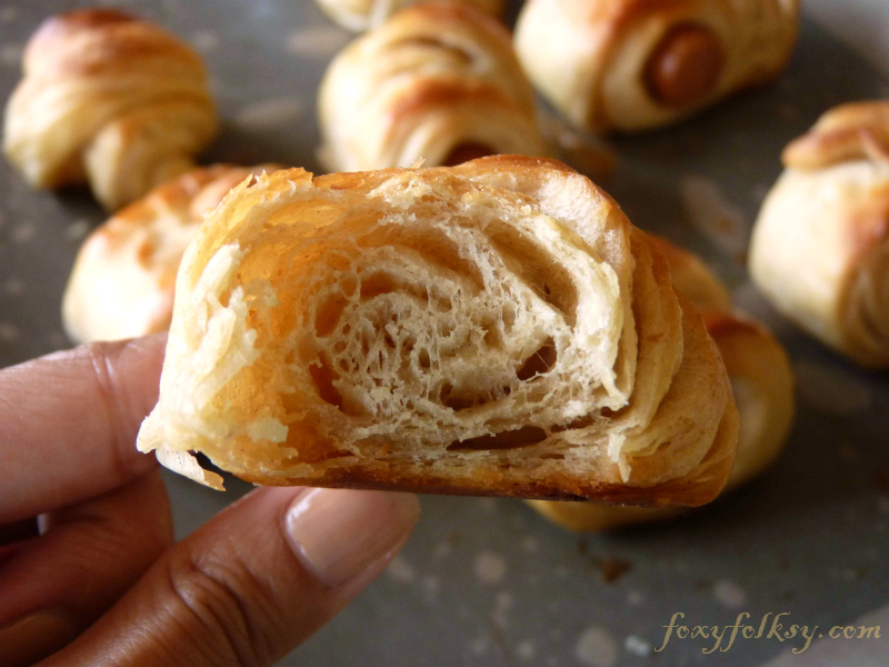 This is probably the quickest method for making croissants, but the result is still, layers of thin crispy buttery goodness! | www.foxyfolsy.com
