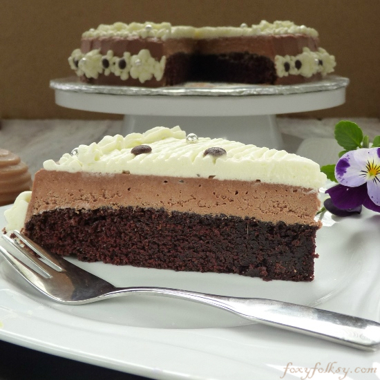 Easy Chocolate Mousse Cake Recipe |Foxy Folksy