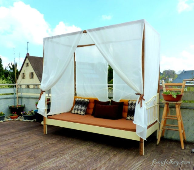 diy outdoor canopy bed - photo #7