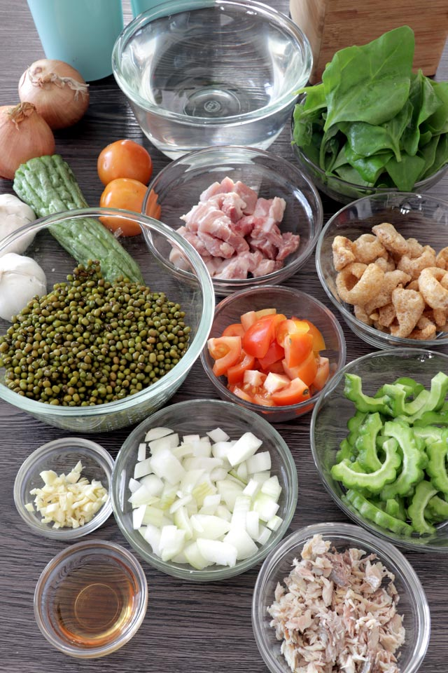 Ingredients for Ginisang Munggo