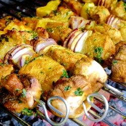 Chicken Curry Kebab