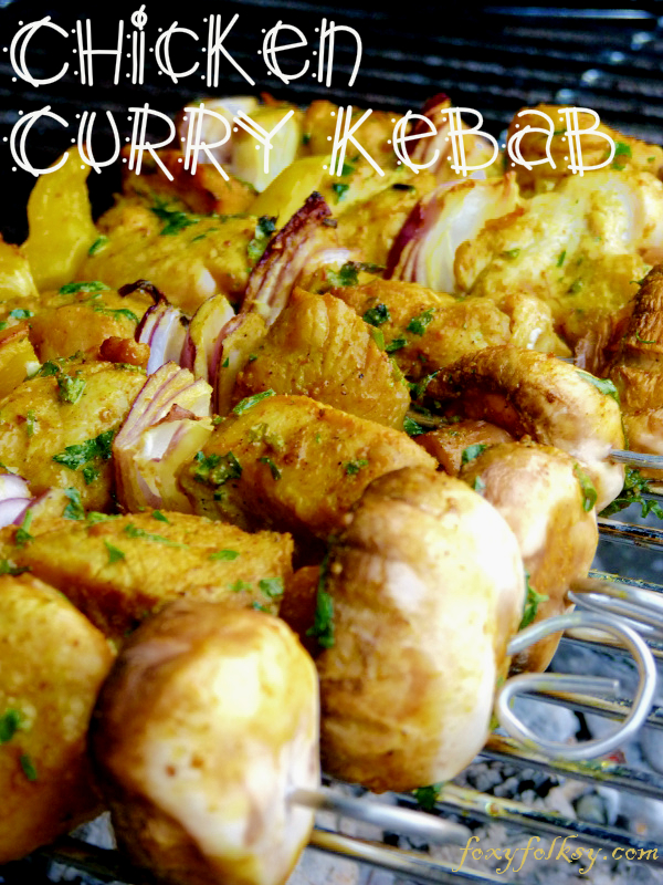 This quick and easy to prepare chicken kebab recipe is made flavorful and savory with curry, chili pepper and other herbs and spices. Perfect addition to your barbecue parties. | www.foxyfolksy.com