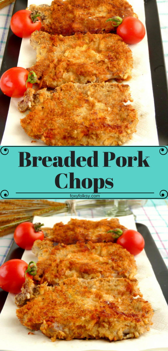 Try this easy and delicious Breaded Pork Chop using Japanese breadcrumbs (Panko).  So satisfying, crispy breading but tender and juicy meat inside with a wonderful flavor. | www.foxyfolksy.com #recipe #pork #porkchops #breaded