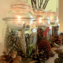 DIY Project Autumn Wedding: Table Lantern Jars