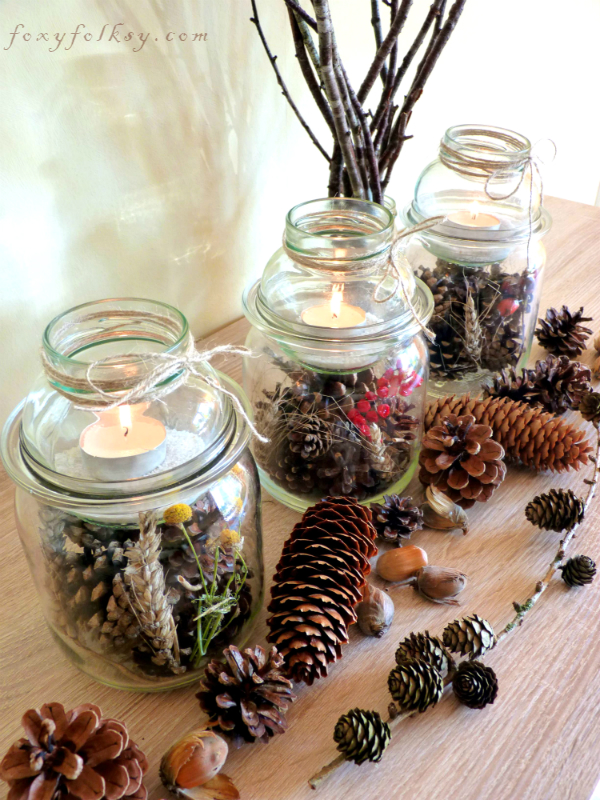 table lantern jars