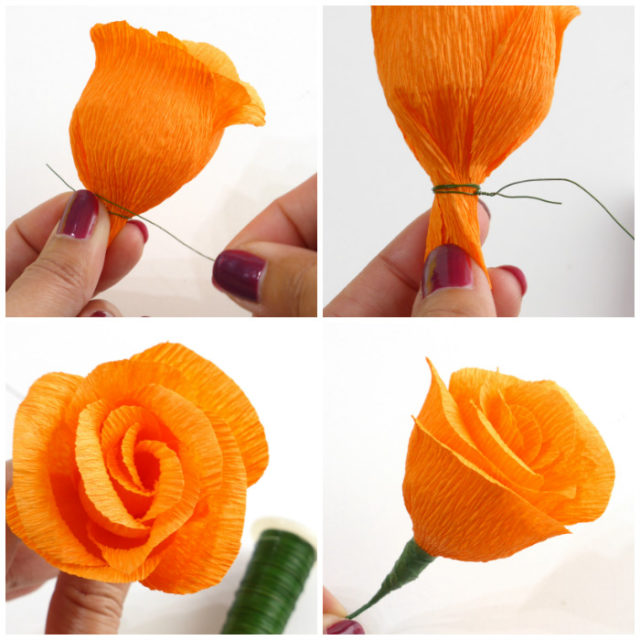 Diy Project Autumn Wedding How To Make Paper Flowers Part 2