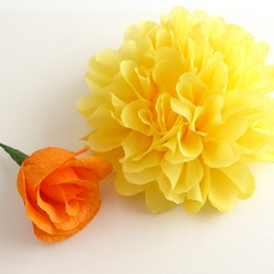 DIY Project Autumn Wedding: How to make paper flowers (Part 2)