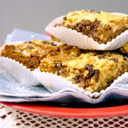 Chocolate Cashew Toffee Bars