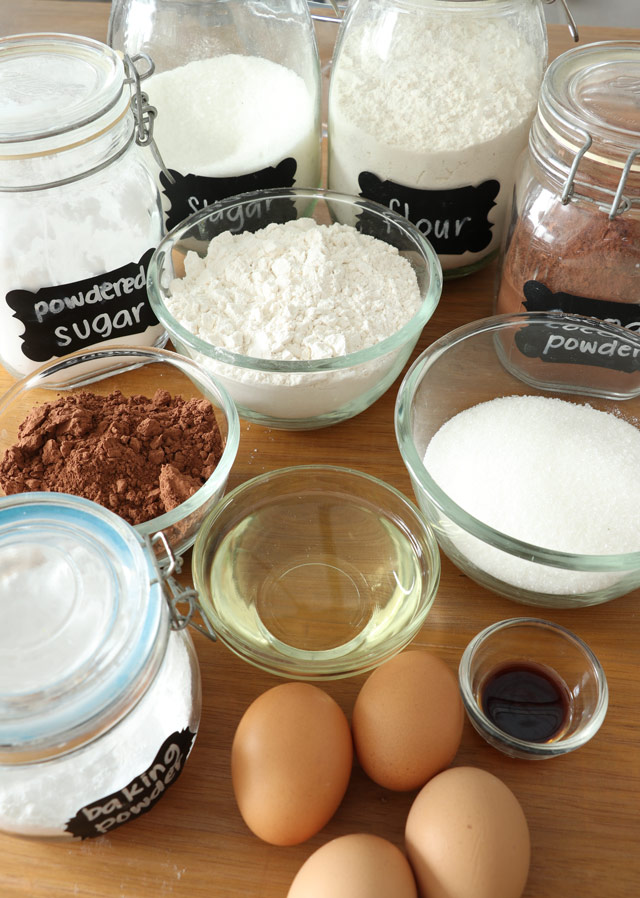 Ingredients for Chocolate Crinkles