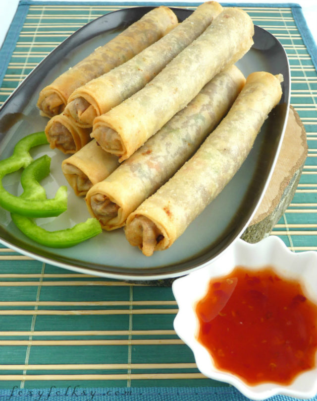 Lumpiang Shanghai is our very own Filipino version of spring rolls. What is the difference, you might ask. Well, the main difference is that, it has more meat that vegetables in it unlike the other kinds of lumpia or spring rolls| www.foxyfolksy.com