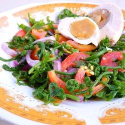 Fiddlehead fern Salad (Ensaladang Pako)