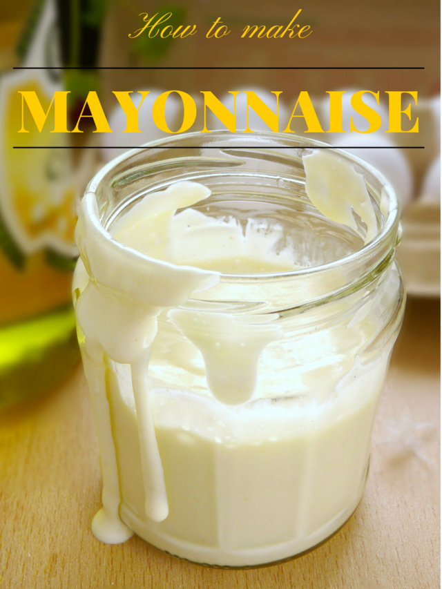 Learn how to make mayonnaise from scratch with this super easy recipe. | www.foxyfolksy.com
