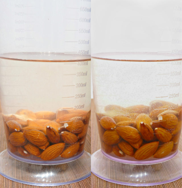 Almond milk is good alternative to traditional dairy milk. Learn here how to make almond milk at home without buying special materials and it's all so easy! | www.foxyfolksy.com