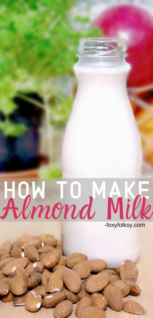Almond milk is good alternative to traditional dairy milk. Learn here how to make almond milk at home without buying special materials and it\'s all so easy! | www.foxyfolksy.com #recipe #homemade #foxyfolksy #almond