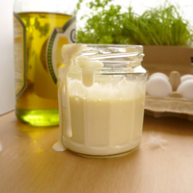 Learn how to make mayonnaise from scratch! It is much healthier with no sugar added.Try this super easy recipe with only 4 ingredients and few simple steps.