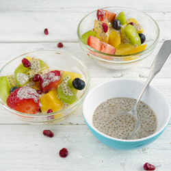 Fruit Salad with Honey Chia Dressing