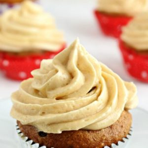 Banana Cupcake with Peanut Butter-Caramel frosting