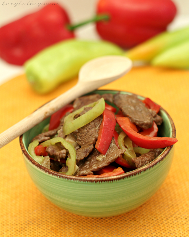 beef and peppers