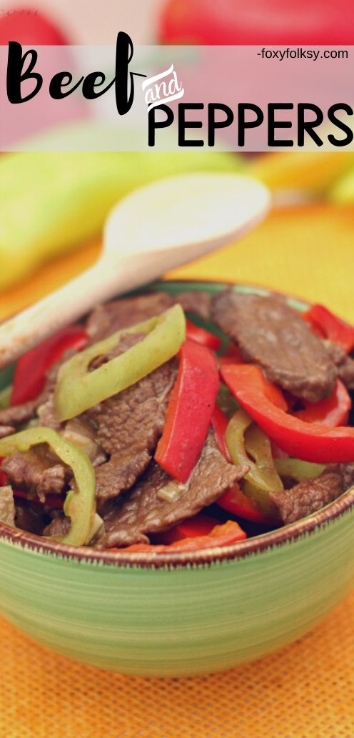 This beef and peppers dish is another quick and easy recipe for people who are in a hurry or do not have enough time but still want to cook a decent meal. | www.foxyfolksy.com #recipe #beef #foxyfolksy