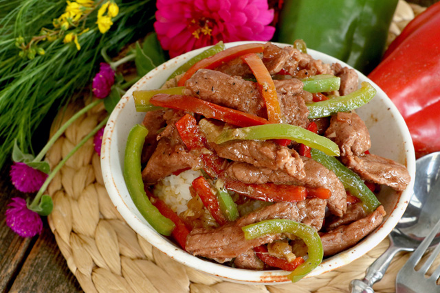 Beef and Peppers Recipe