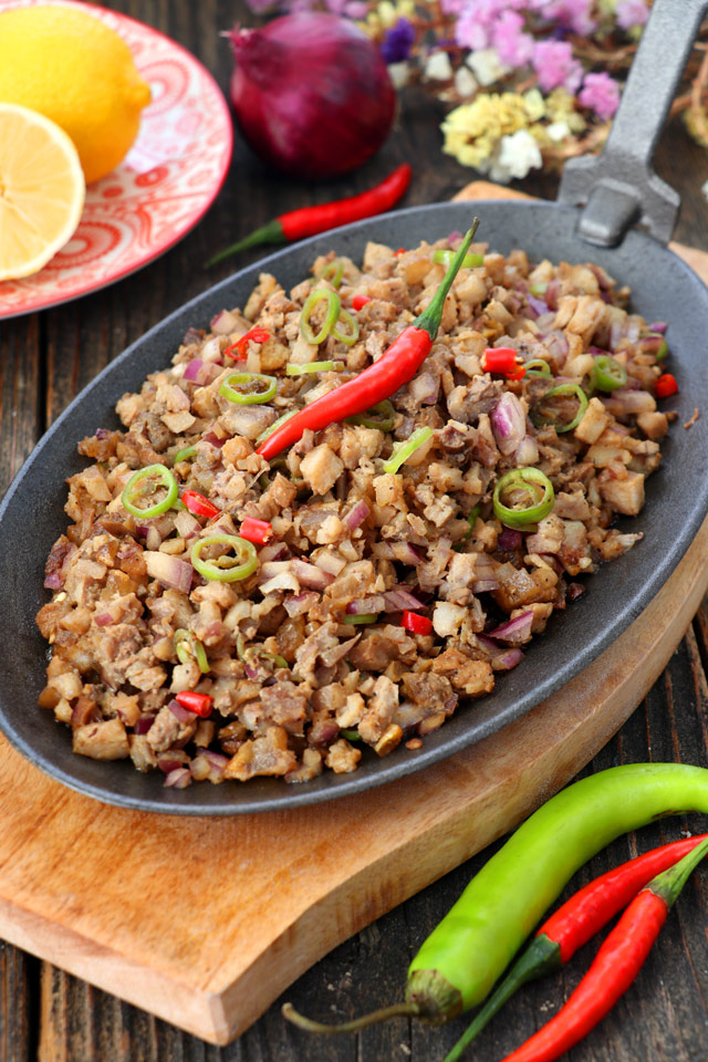 Sisig made from pork belly