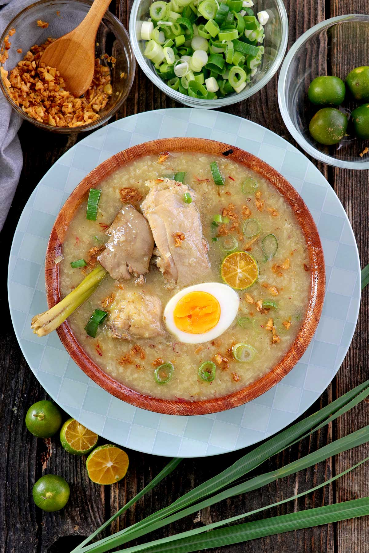 Arroz Caldo or Chicken Rice Porridge