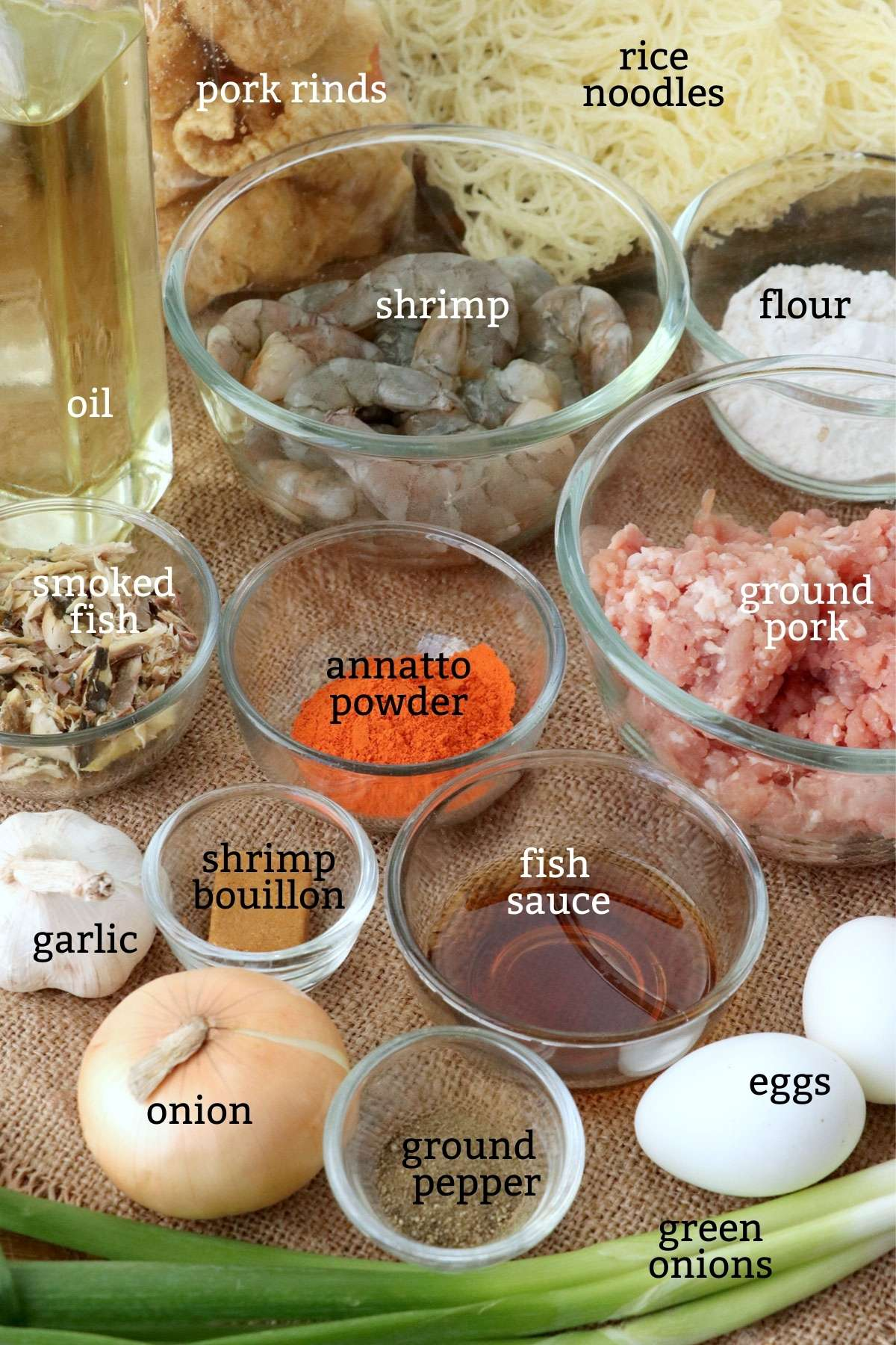 Ingredients for Palabok