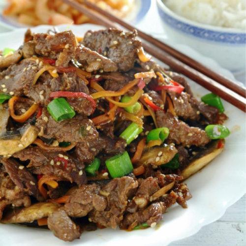 Beef Bulgogi on a plate