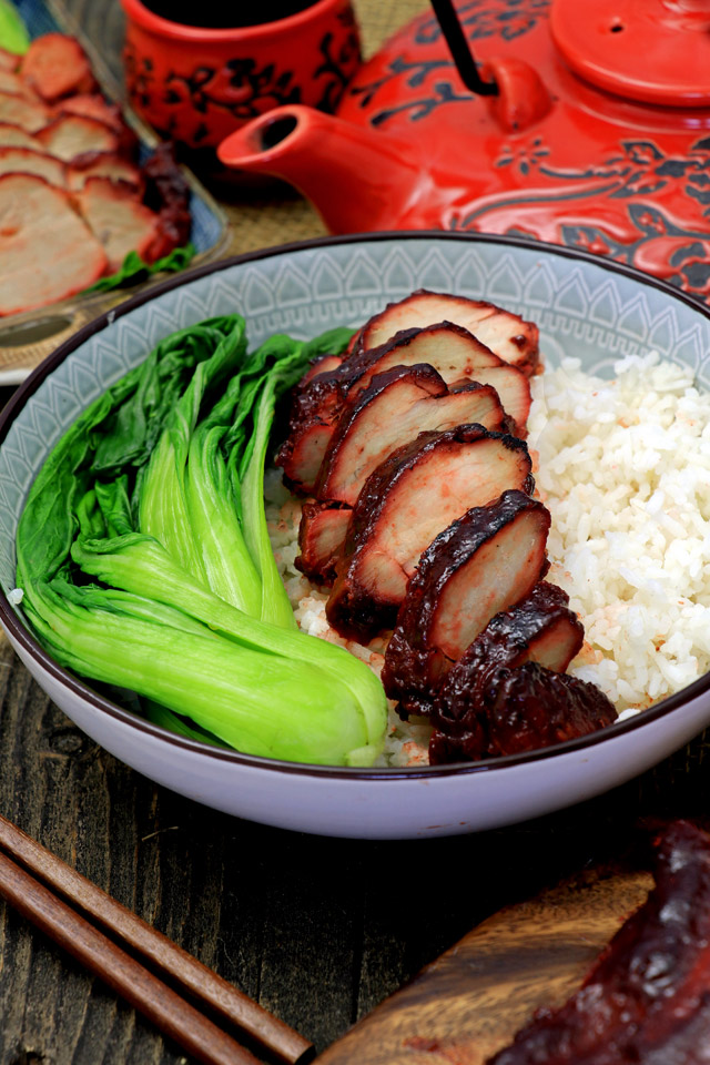 Char Siu is roasted or barbecued pork from Cantonese cuisine usually sticky, sweet and savory. Try this Char Siu recipe and learn to make it from scratch. | www.foxyfolksy.com