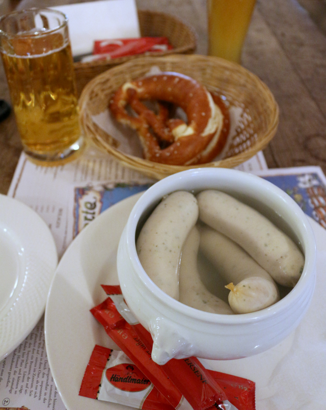 bavarian breakfast Weißwurst