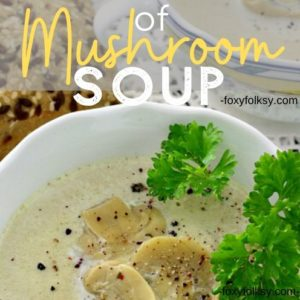 Cream Of Mushroom Soup Foxy Folksy