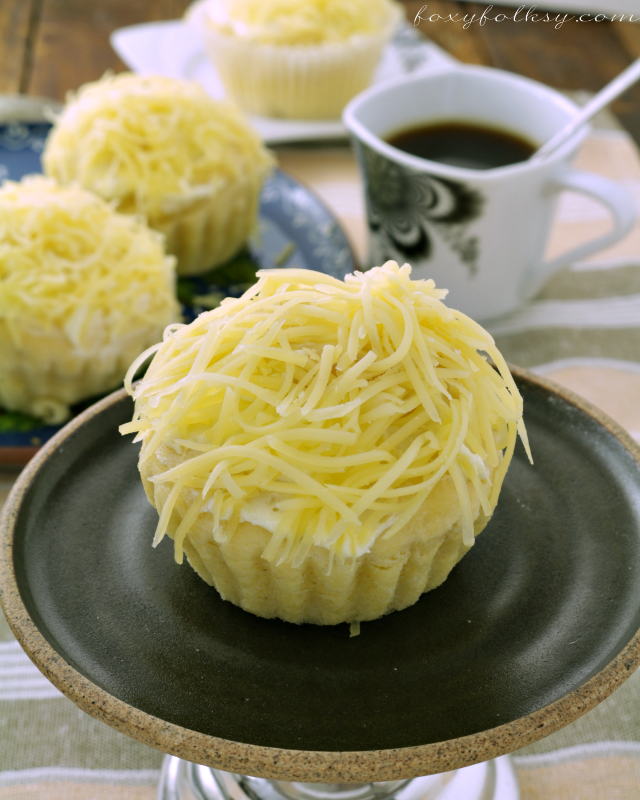 Try this ensaymada recipe for that soft, sweet bread covered with buttercream then topped with lots of grated cheese. Just yummy! | www.foxyfolksy.com