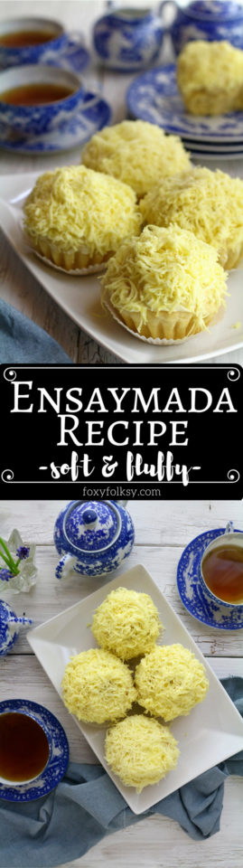 Try this soft and cheesy Ensaymada recipe. | www.foxyfolksy.com