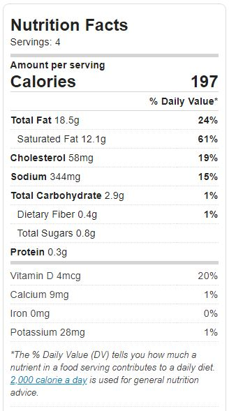 nutrition facts - cream of mushroom soup