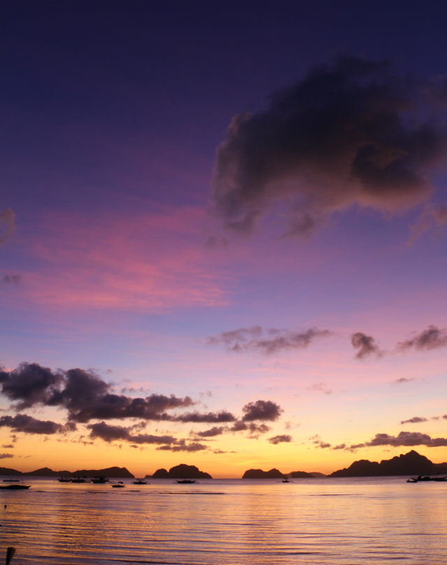 Sunset vanilla sky from Corong-Corong