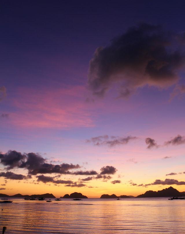 Sunset vanilla sky from Corong-Corong