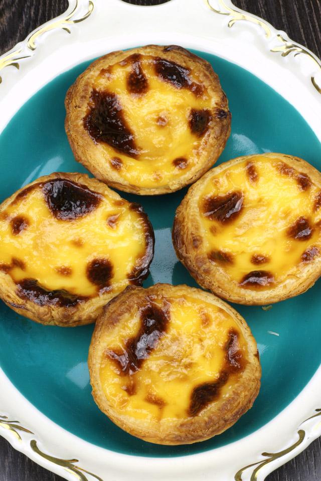 Homemade Macau-style Egg tarts