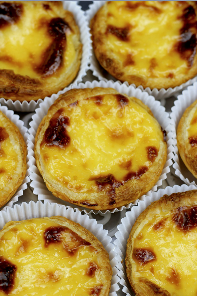 Portuguese Egg Tarts with light creamy custard