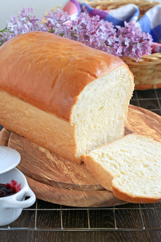 a loaf of bread freshly baked