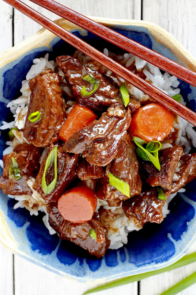 Braised beef filipinochinese style foxy folksy simple braised beef recipe for savory sweet tender chunks of beef that is rich of forumfinder Choice Image