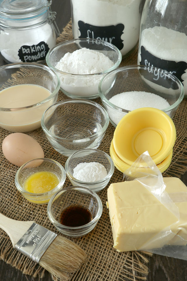 Ingredients for making Puto Cheese